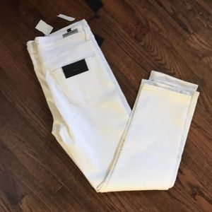 NWT CofH Harlow ankle high rise white jeans